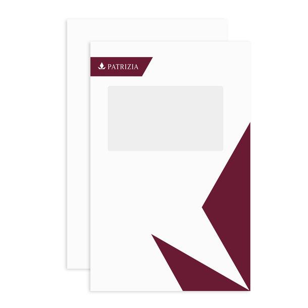 PATRIZIA Präsentations Deck- & Rückblätter A4 mit Fenster Hochformat