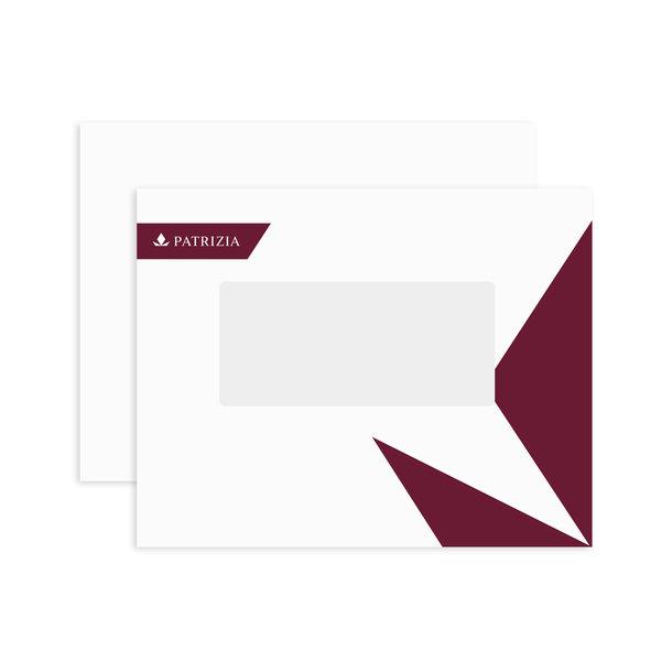 PATRIZIA Präsentations Deck- & Rückblätter A4 mit Fenster Querformat